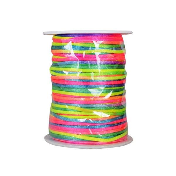 Сплетен шнур, сатен, 2 mm, 50 м. ролка Сплетен шнур, сатен, 2 mm, 50 м. ролка, дъга