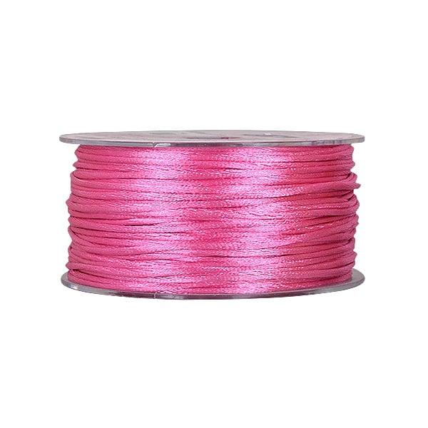 Сплетен шнур, сатен, 2 mm, 50 м. ролка Сплетен шнур, сатен, 2 mm, 50 м. ролка, розов