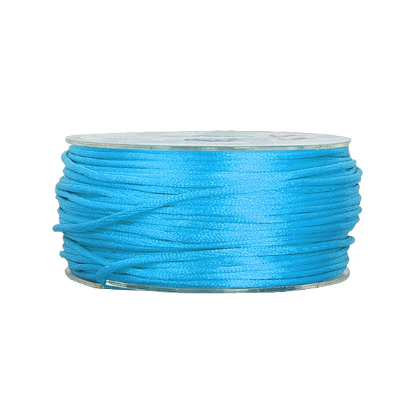 Сплетен шнур, сатен, 2 mm, 50 м. ролка Сплетен шнур, сатен, 2 mm, 50 м. ролка, светло син