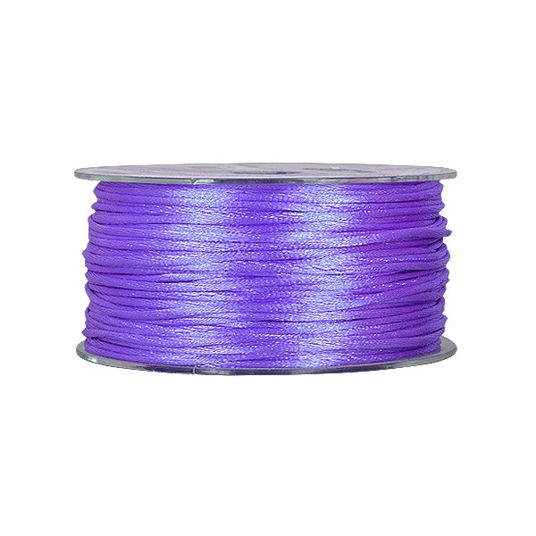 Сплетен шнур, сатен, 2 mm, 50 м. ролка Сплетен шнур, сатен, 2 mm, 50 м. ролка, виолетов