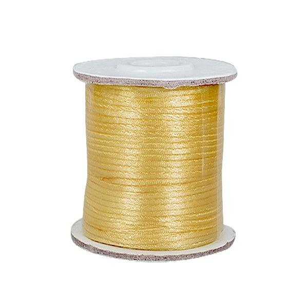 Сплетен шнур, сатен, 2 mm, 50 м. ролка Сплетен шнур, сатен, 2 mm, 50 м. ролка, златен