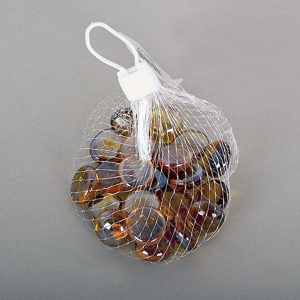 Стъклени камъчета, Glas-Nuggets, 18-20 MM, 100 G / 20-30 БР. Стъклени камъчета, Glas-Nuggets, 18-20 mm, 100 g / 20-30 бр., преливащи цветове, топаз