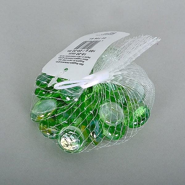 Стъклени камъчета, Glas-Nuggets, 18-20 MM, 100 G / 20-30 БР. Стъклени камъчета, Glas-Nuggets, 18-20 mm, 100 g / 20-30 бр., зелени