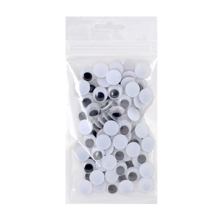 Трептящи очички - копчета, кръгли, ф12 mm,100 броя
