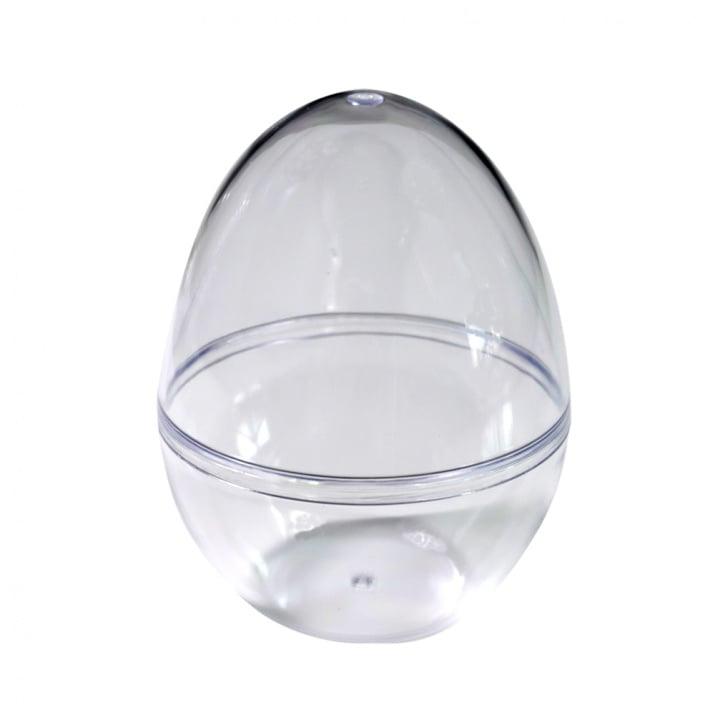 Яйце от пластмаса, H 120x90 mm, прозрачна