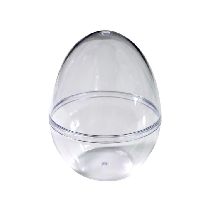 Яйце от пластмаса, H 90 mm, прозрачна