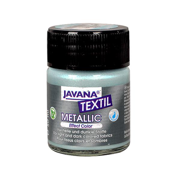 Текстилна боя, Metallic JAVANA, 50 ml /за светла и тъмна основа/ Текстилна боя Metallic JAVANA, 50ml, арктическо синя