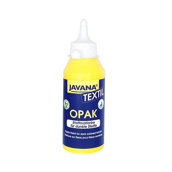 Текстилна боя, Opak JAVANA, 50 ml /за светла  и тъмна основа/ Текстилна боя Opak JAVANA, 250 ml, жълта