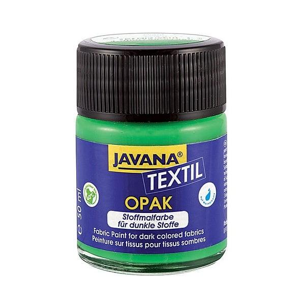 Текстилна боя, Opak JAVANA, 50 ml /за светла  и тъмна основа/ Текстилна боя OPAK JAVANA, 50 ml, тъмно зелен