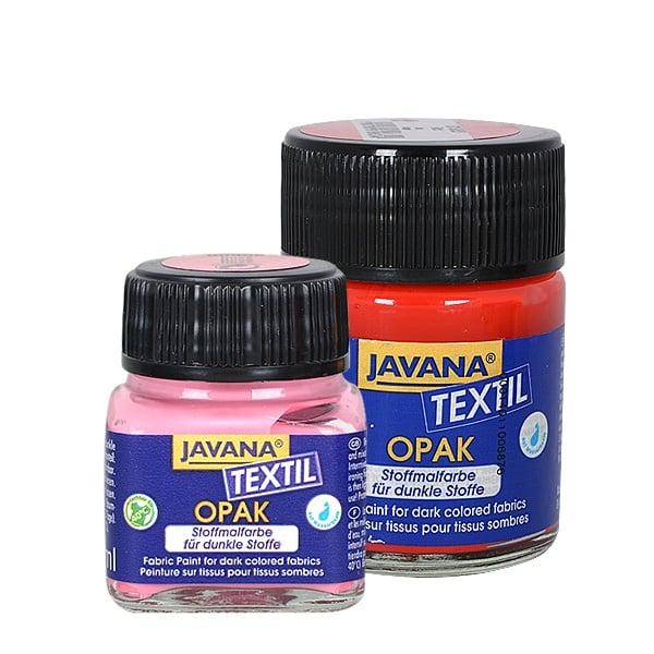 Текстилна боя, Opak JAVANA, 50 ml /за светла  и тъмна основа/