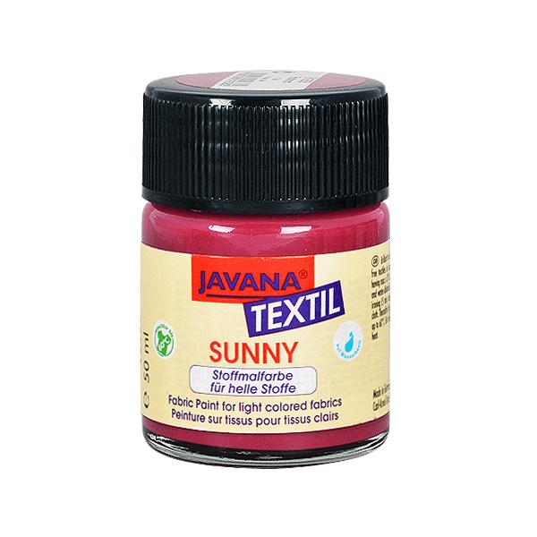 Текстилна боя, Sunny JAVANA, 50 ml /за светла основа/ Текстилна боя SYNNY JAVANA, 50 ml, бордо