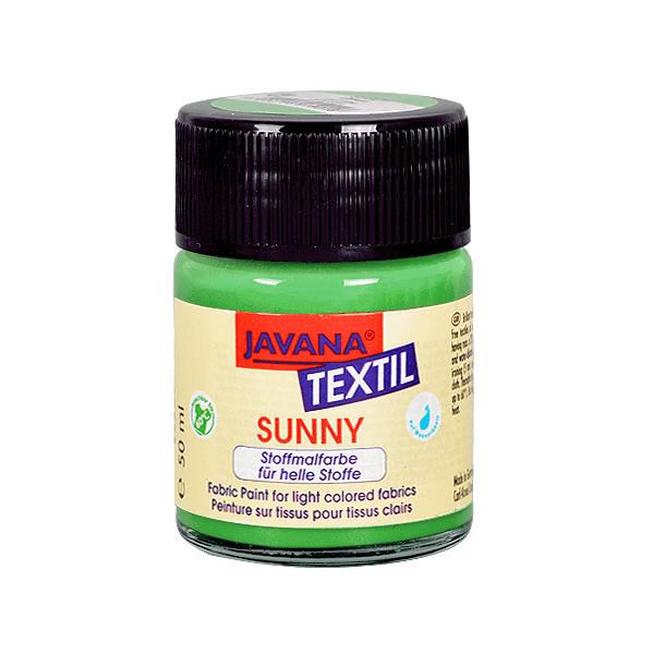 Текстилна боя, Sunny JAVANA, 50 ml /за светла основа/ Текстилна боя SYNNY JAVANA, 50 ml, брилянтно зелен