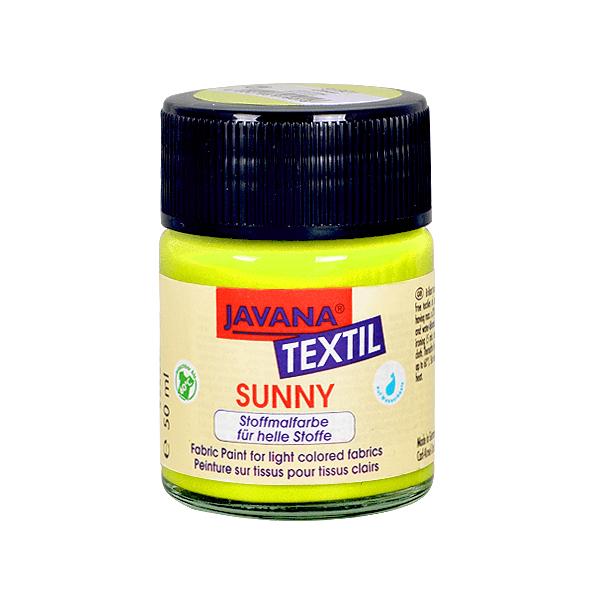 Текстилна боя, Sunny JAVANA, 50 ml /за светла основа/ Текстилна боя SYNNY JAVANA, 50 ml, жълтозелена