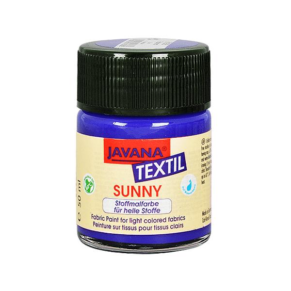 Текстилна боя, Sunny JAVANA, 50 ml /за светла основа/ Текстилна боя SYNNY JAVANA, 50 ml, кралско синя