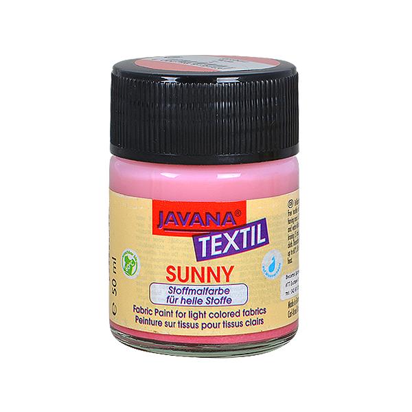 Текстилна боя, Sunny JAVANA, 50 ml /за светла основа/ Текстилна боя SYNNY JAVANA, 50 ml, розa