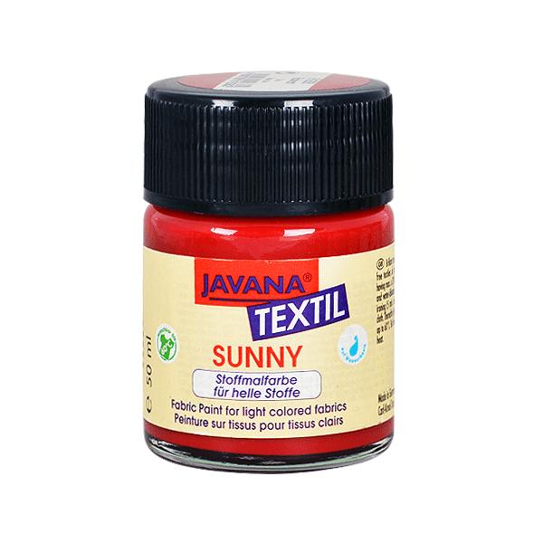 Текстилна боя, Sunny JAVANA, 50 ml /за светла основа/ Текстилна боя SYNNY JAVANA, 50 ml, рубинено червен