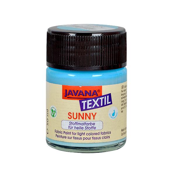 Текстилна боя, Sunny JAVANA, 50 ml /за светла основа/ Текстилна боя SYNNY JAVANA, 50 ml, светъл тюркоаз