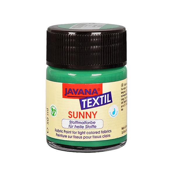 Текстилна боя, Sunny JAVANA, 50 ml /за светла основа/ Текстилна боя SYNNY JAVANA, 50 ml, тъмно зелена