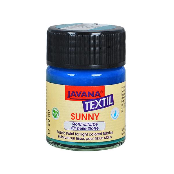 Текстилна боя, Sunny JAVANA, 50 ml /за светла основа/ Текстилна боя SYNNY JAVANA, 50 ml, тюркоаз