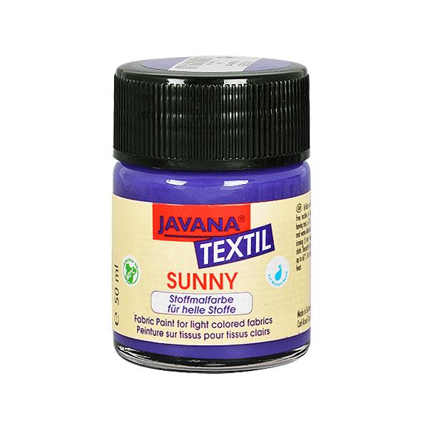 Текстилна боя, Sunny JAVANA, 50 ml /за светла основа/ Текстилна боя SYNNY JAVANA, 50 ml, виолет