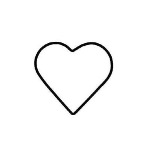 Телена форма за украсяване, 10 cm, сърце