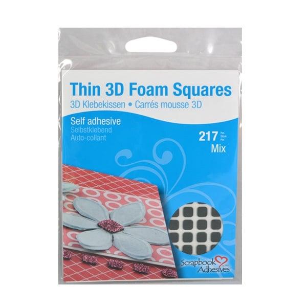 THIN 3D Двойнолепящи Foam Squares, Combo 1mm, стандартна, 217 бр. THIN 3D Двойнолепящи Foam Squares, Combo 1mm, черни, стандартна, 217 бр.