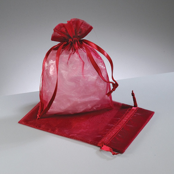 Торбичка от органза, 12,5 x 17 cm Торбичка от органза, 12,5 x 17 cm, бордо
