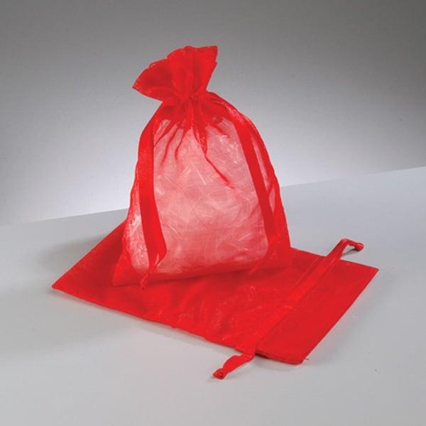 Торбичка от органза, 12,5 x 17 cm Торбичка от органза, 12,5 x 17 cm, червена