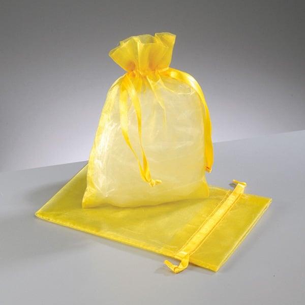Торбичка от органза, 12,5 x 17 cm Торбичка от органза, 12,5 x 17 cm, жълта
