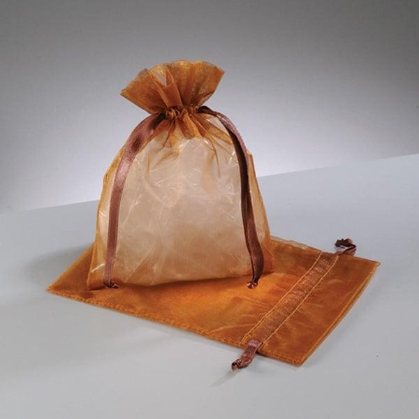 Торбичка от органза, 12,5 x 17 cm Торбичка от органза, 12,5 x 17 cm, медно кафяво