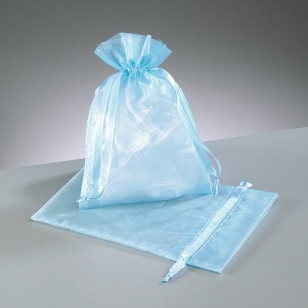 Торбичка от органза, 12,5 x 17 cm Торбичка от органза, 12,5 x 17 cm, светло синьо
