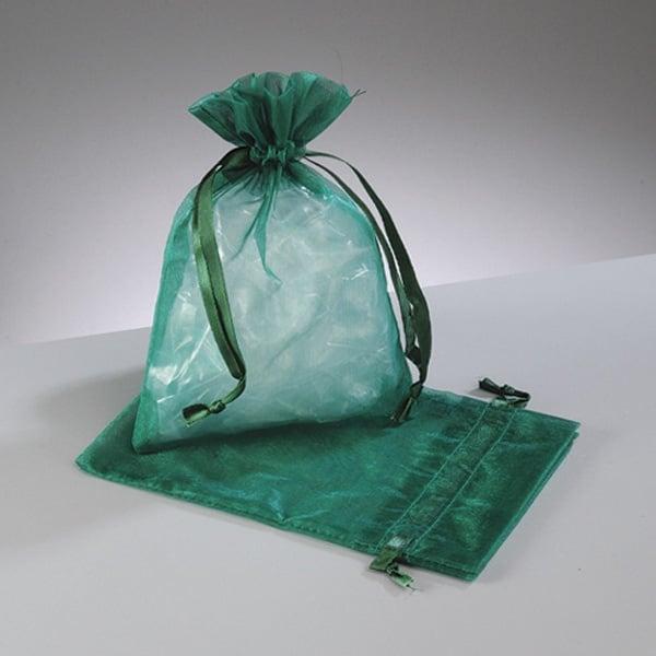 Торбичка от органза, 12,5 x 17 cm Торбичка от органза, 12,5 x 17 cm, тъмно зелено