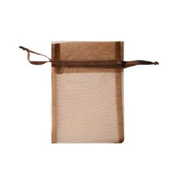 Торбичка подаръчна шифон, 15 X 24 cm Торбичка подаръчна шифон, 12 x 17 cm, тъмно кафява