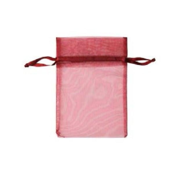 Торбичка подаръчна шифон, 15 X 24 cm Торбичка подаръчна шифон, 12 x 17 cm, винено червена