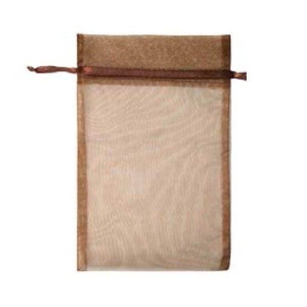 Торбичка подаръчна шифон, 15 X 24 cm Торбичка подаръчна шифон, 15 X 24 cm, тъмно кафява