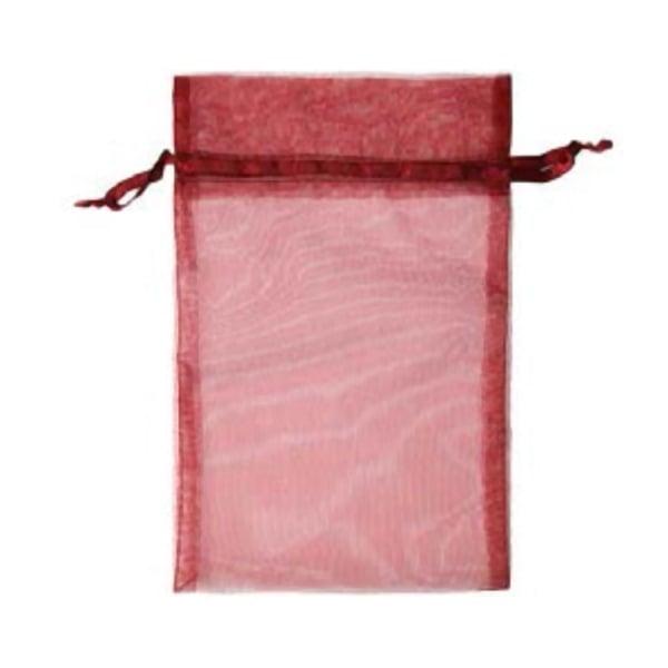 Торбичка подаръчна шифон, 15 X 24 cm Торбичка подаръчна шифон, 15 X 24 cm, винено червена