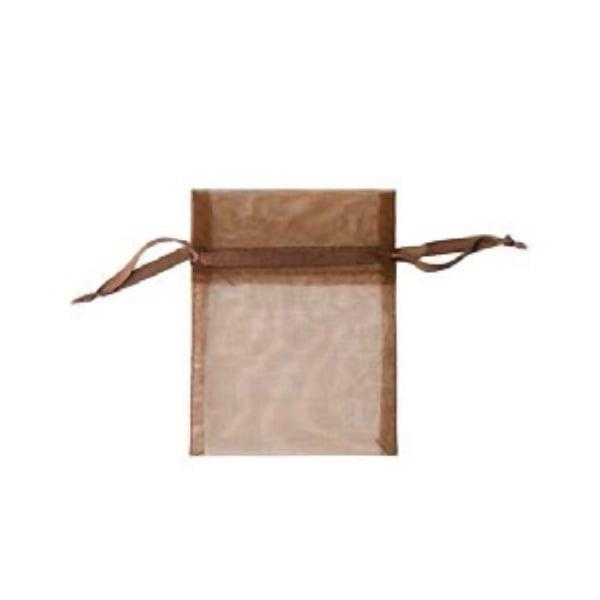 Торбичка подаръчна шифон, 15 X 24 cm Торбичка подаръчна шифон, 9 x 12 cm, тъмно кафява