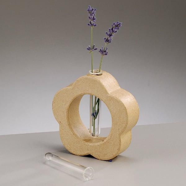 Алуминиево фолио, 20 х 30 см / 0,15 мм, 3 бр., двуцветно - червено и сребристо Ваза от папие маше във форма на цвете със стъклена вложка, 8,5 x 2,5 cm, 2 бр.
