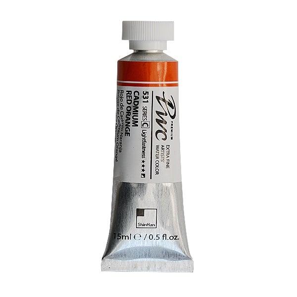 Водна боя Profesional Water Color, 15 ml Водна боя PWC, 15 ml, Cadmium Red Orange