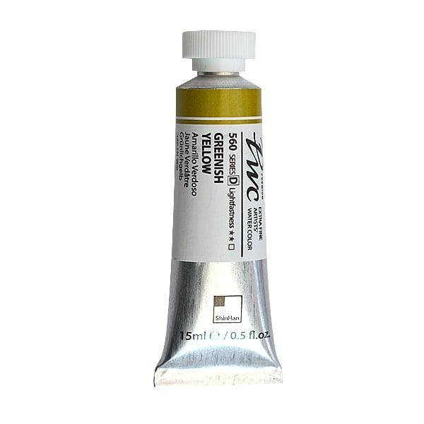 Водна боя Profesional Water Color, 15 ml Водна боя PWC, 15 ml, Greenish Yellow