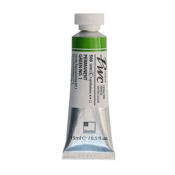 Водна боя Profesional Water Color, 15 ml Водна боя PWC, 15 ml, Permanent Green No.1