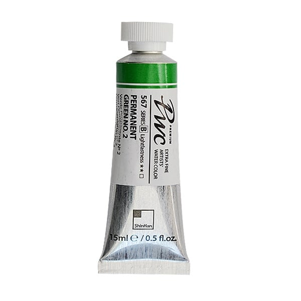 Водна боя Profesional Water Color, 15 ml Водна боя PWC, 15 ml, Permanent Green No.2