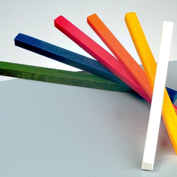 Восъчни пръчки за моделиране, 180x10x10mm, 6 бр., микс