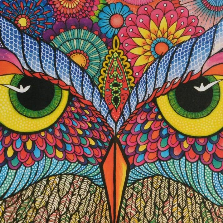 Алуминиево фолио, 20 х 30 см / 0,15 мм, 3 бр., двуцветно - червено и сребристо Пъзел художествен WENTWORTH, It's a hoot,250 части - дърво