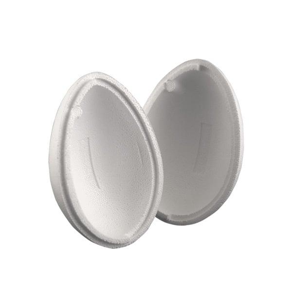 Яйце от стиропор, бял, H 150 mm, 2 части