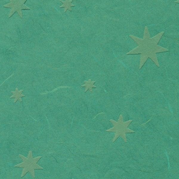 Японска 3D хартия, 35 g/m2, 50 x 70 cm, 1л, звезди, зелена