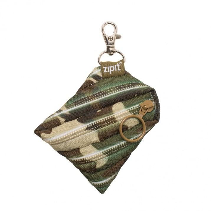 Несесер с ключодържател Camo, зелен камуфлаж