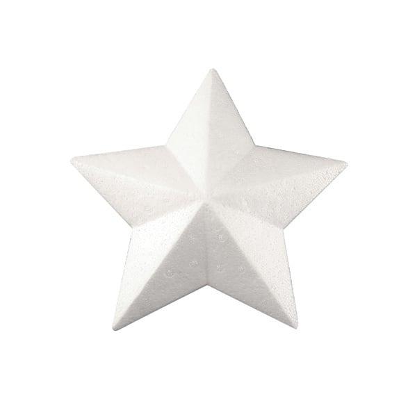 Звезда с ръбове от стиропор, бял, 95 mm