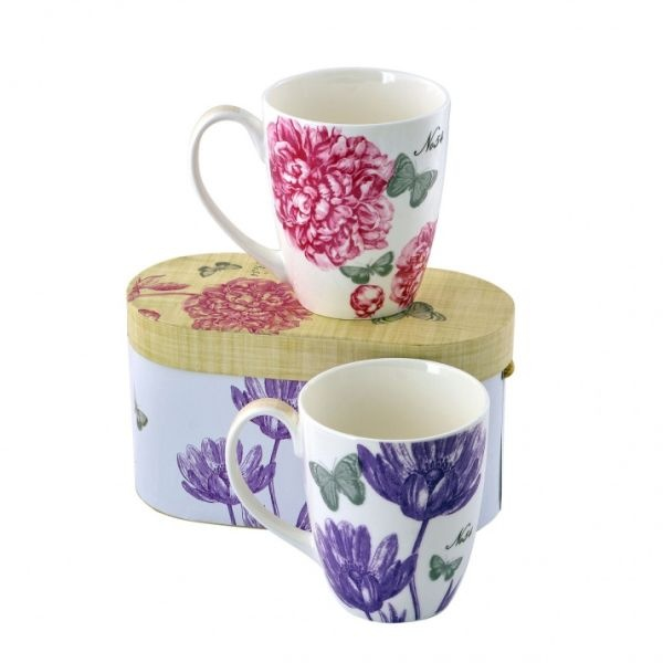 Peonies & Butterflies - комплект порцеланови чашки