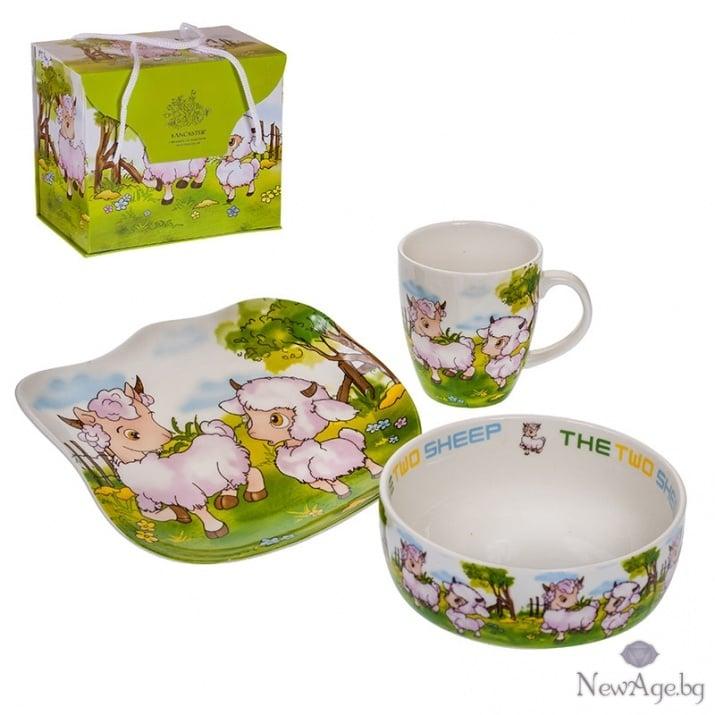 Детски сет - чинийка,чашка и купичка - аганца